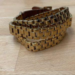 Michael Kors Multi-Wrap Bracelet Gold Tone Chain